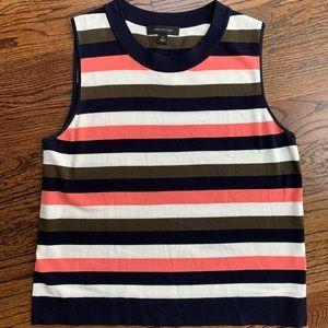 Ann Taylor Striped Sleeveless Sweater